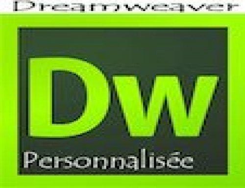 Formation Dreamweaver – Personnalisée