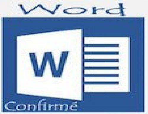 Formation Word – Confirmés