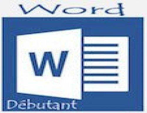 Formation Word – Débutant